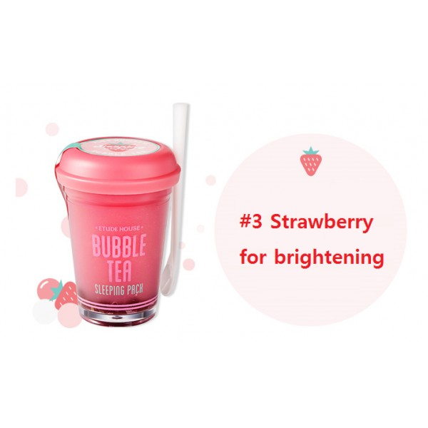 the strawberry bubble tea mask is for brightening your skin. this works well with dry skin 🌺