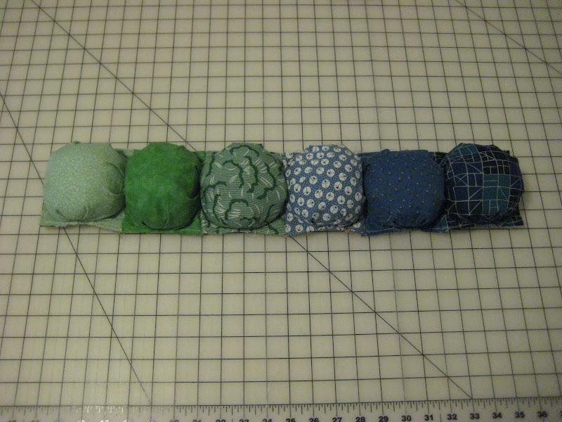 I sewed mine together in rows of 6.