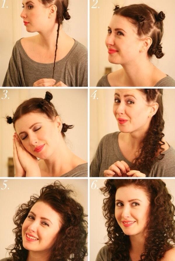 Bantu knot Curls/Waves.
