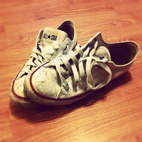Ever want too get rid of smudges and scratches and dirt or whatever's on the rubber part of your converses ?