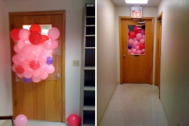 Fake balloon prank