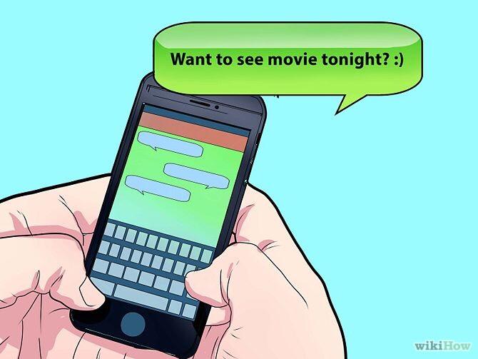 Text him