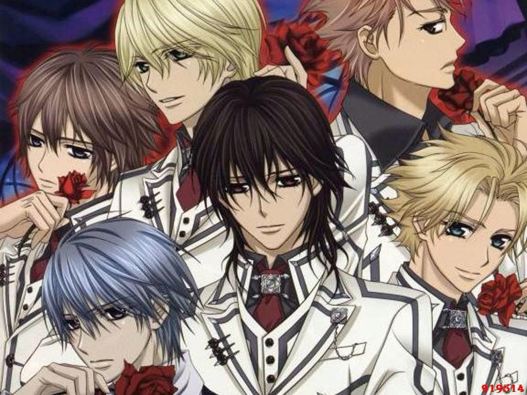 Vampire Knight is good but it stops abruptly like many other animes. I don't mind but you might. It has a lie triangle and vampires. Need I say more?