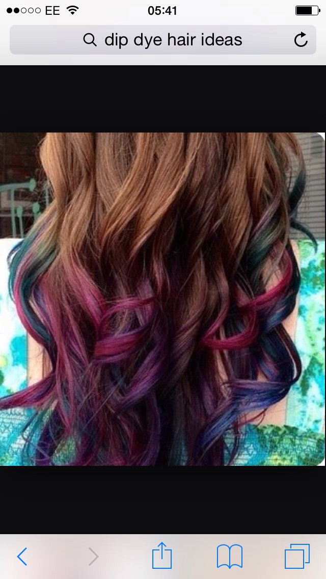 😝This is kinda like the rainbow one you saw earlier but on brown hair it looks really nice so I would suggest this😝