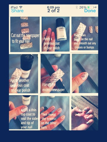 Cool newspaper nails 💅📰