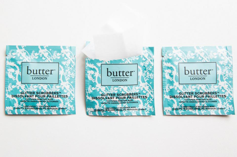 3. Glitter Nail Polish Remover Pads. If you're a glitter girl but think glitter is a pain in the ass to get off, then you need to invest in a textured pad that can help swipe off any finely milled or grittier glitter in a flash. Try Butter London Glitter Scrubbers Textured Remover Wipes.