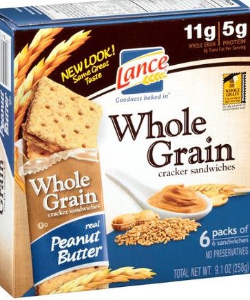 WHOLE GRAIN CRACKERS & NUT BUTTER The carbs in the crackers will stabilize your blood sugars and the protein and healthy fats in the butter balances a happy diet.