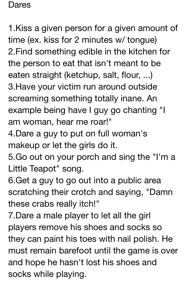 Dirty truth questions for a girl