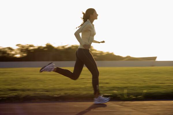 Run outside or anywhere for 15-30 minutes if you can .