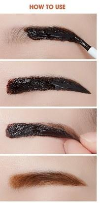 Etude House Tint My Brows Gel is a peel-off eyebrow tint that gives you natural-looking brows that last for a long time.