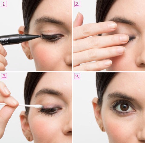 1⃣5⃣Give yourself an effortless smoky eye.
