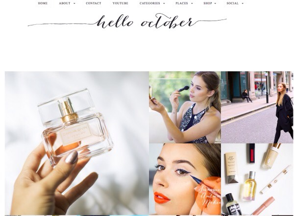 "2️⃣3️⃣ Hello October: ""showcases all of our favorite things: product hauls, reviews, tutorials, and more. Suzie is a popular vlogger but maintains her blog as well, with product finds in both places."""