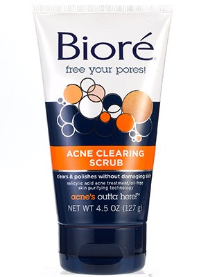 After I open my pores, I wash my face with this.