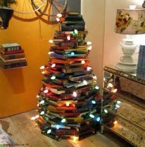 Cute idea for that book lover plus it jazzes up that plain old Xmas tree look
