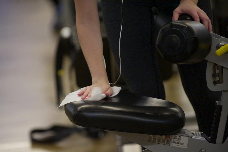 4. Wipe down the machine after use. Nobody likes a sweaty piece of gym equipment.