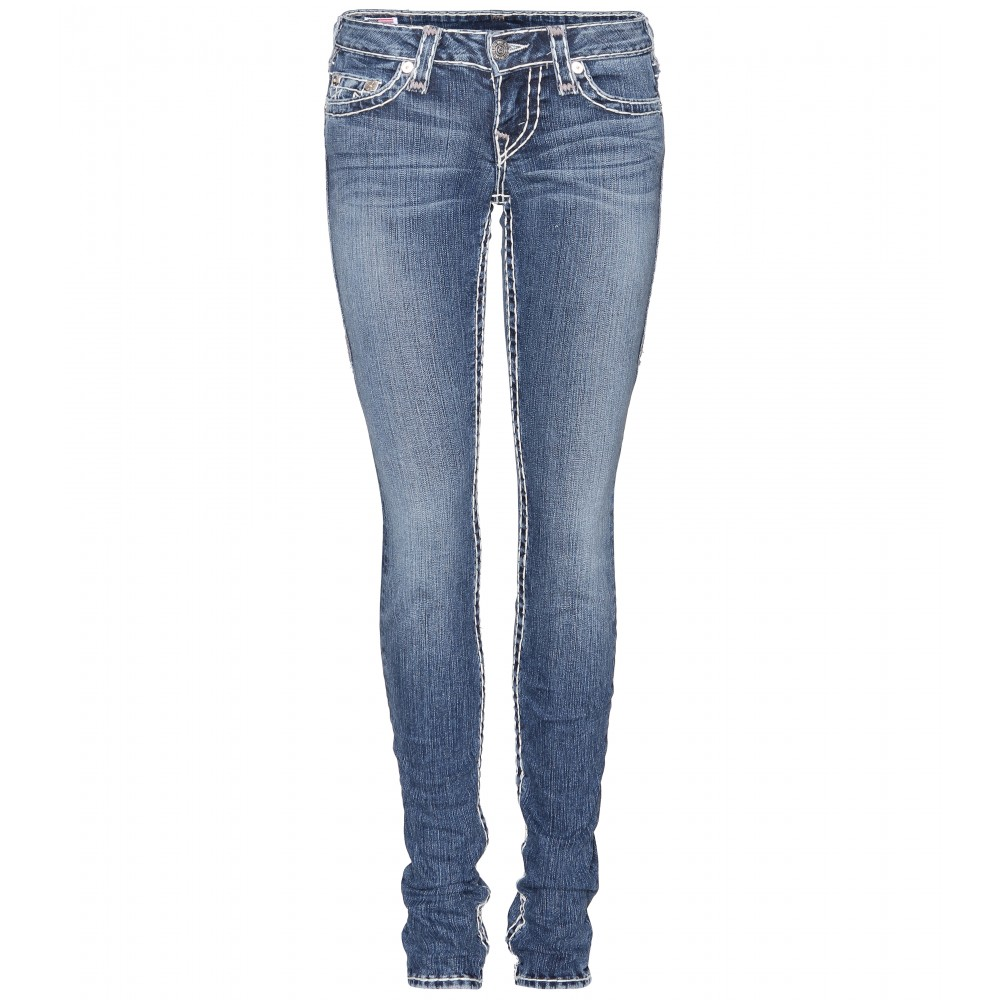 You can use any type of jean. If you decide to use a skinnier jean I suggest a stretchier pair.