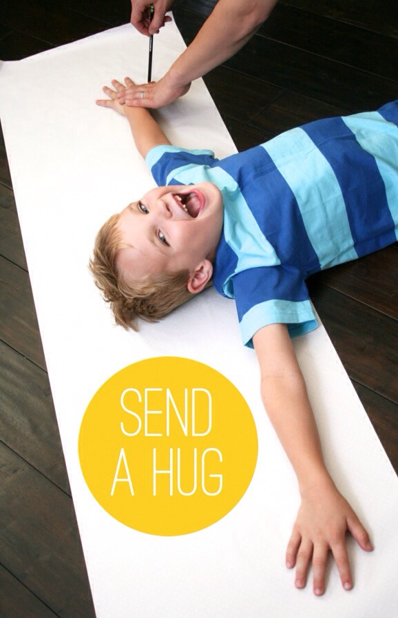 Trace Your Arms and Mail A Hug! So much fun!