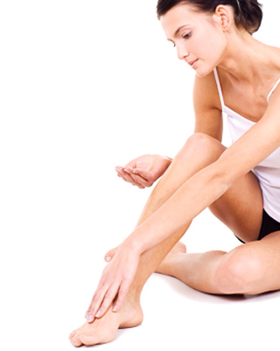 Apply lotion to feet after showers