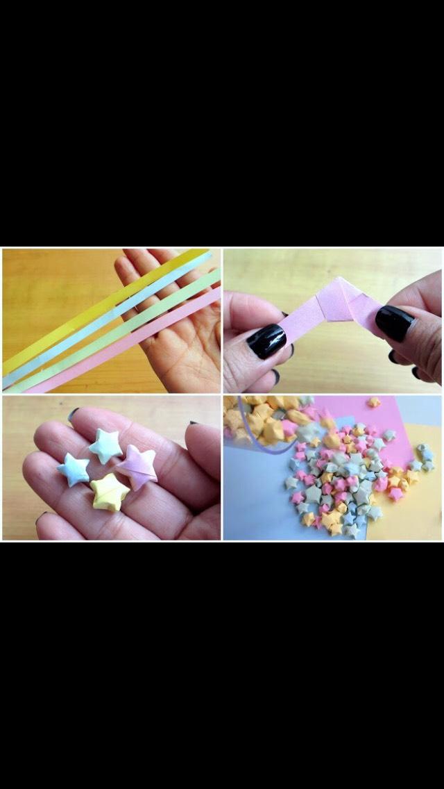 Mini origami! Stars.