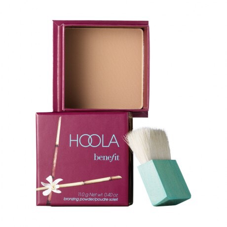 take benefit's hoola bronzer(or a bronzer of your choice) and buff into your collar bones