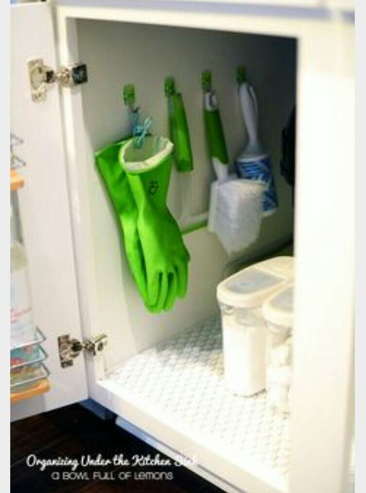 This would be perfect for under the sink with your cleaning supplies, it would also make more to put extra stuff under the sink