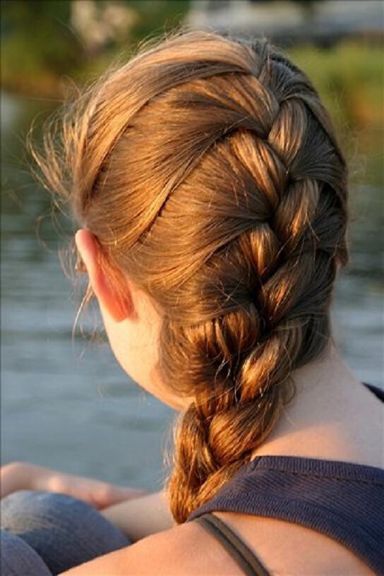 5) French braids are not very hard and when you take it out the curls look amazing!  Once you braid your hair a helpful way to keep your curls longer is to wet it down with a spray bottle. It should be damp but don't Soak it completely or the curls won't show up