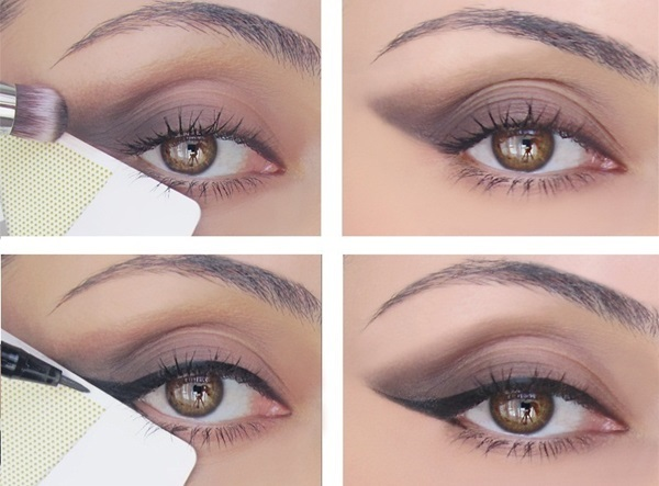 use a credit card to get a perfect cat eye