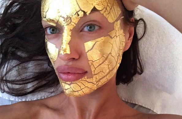 Image result for gold flakes in skincare