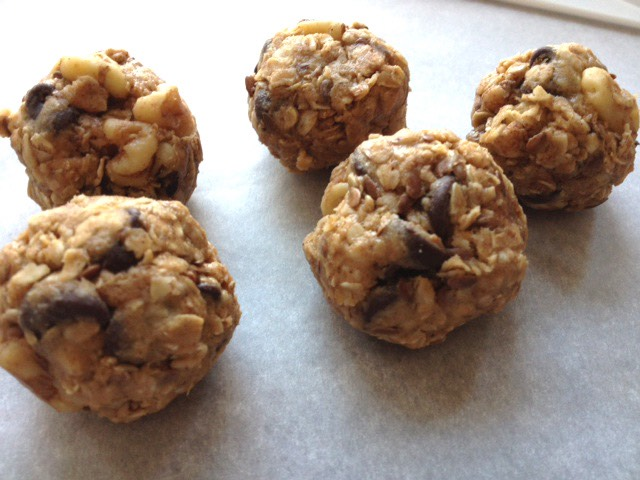 Peanut Butter Oat Balls with chocolate chips