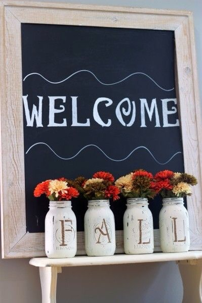 DIY Fall Mason Jars.