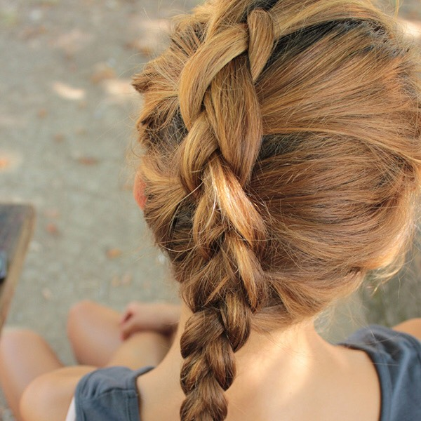 You should start with damp hair. Then comb your hair through and start French braiding it. You can braid one braid or two. With one braid your waves will big lager. With two French braids your waves will be smaller. Once you done that take any sea salt spray fit or bought and stay that on braid.