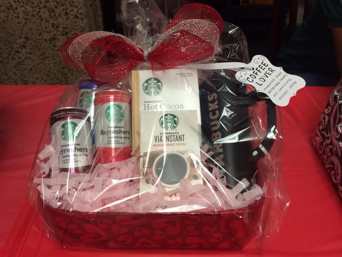 Coffee Starbucks lover basket Instant coffee Hot chocolate  Refresher drinks Travel mug