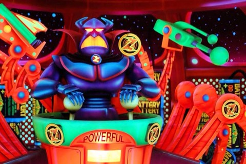 A high score of 999,999 on Buzz Lightyear's Space Ranger Spin earns you a free 'galactic superhero' button.