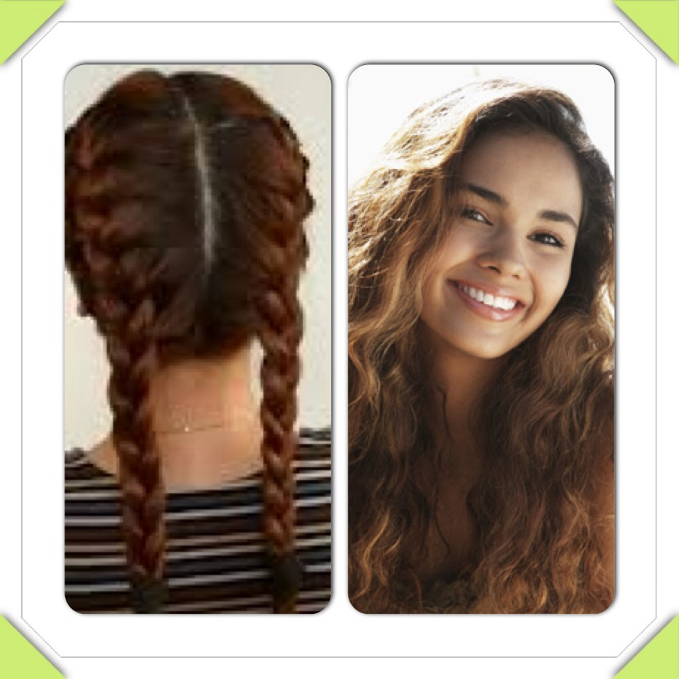 Put ur hair in normal plaits or French plaits while wet and leave till the morning then take out for curly hair