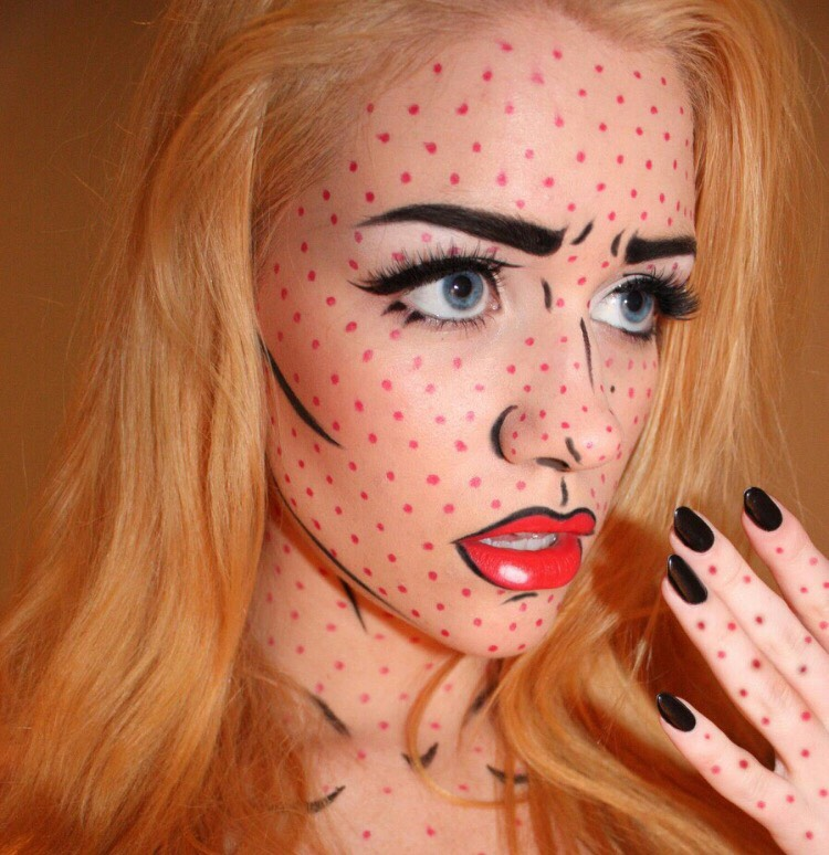 Pop art makeup - stunning!