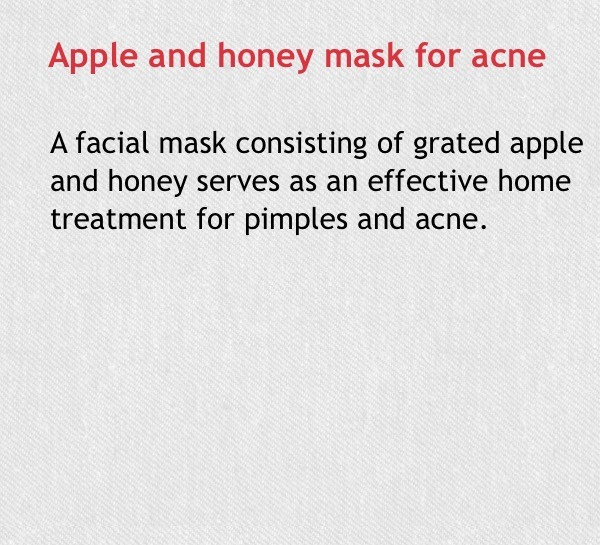 apple and honey face mask for acne