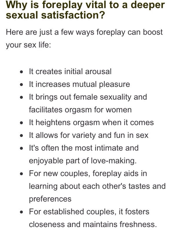 foreplay tips for womens