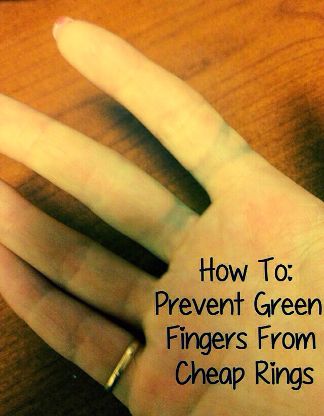 Using clear nail varnish paint a layer to the inside of rings