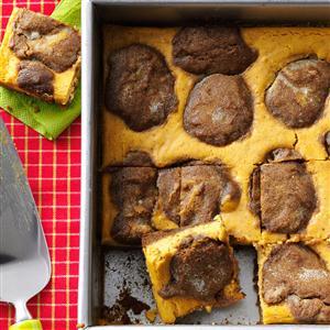 Follow this recipe for gingerbread pumpkin cheesecake bars!