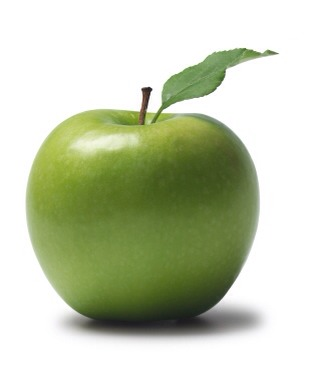 One green apple (or red)