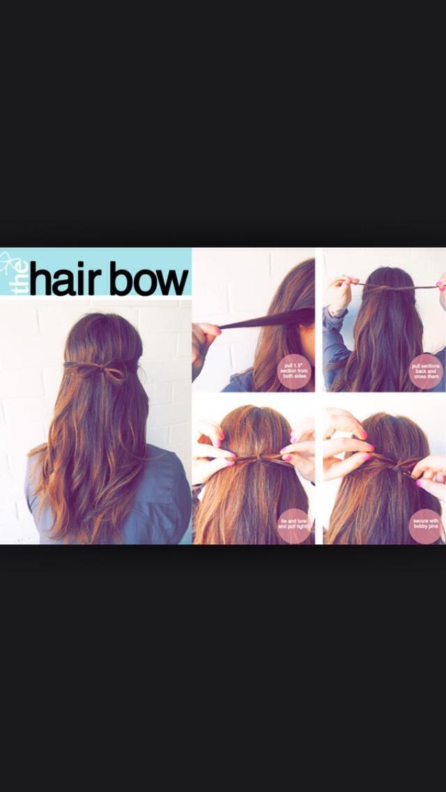 The easy hair bow.