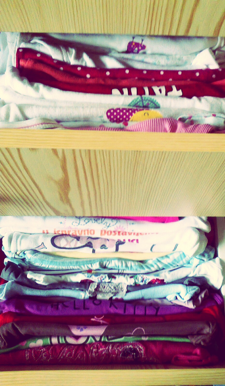 Put clothes in vertically so organize your dresser!