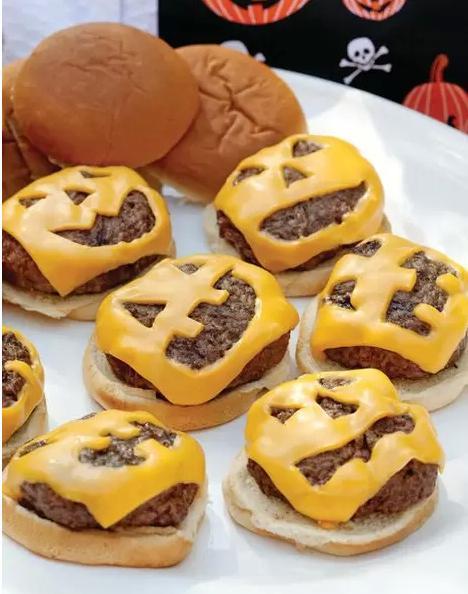 2. Jack O' Lantern Burgers