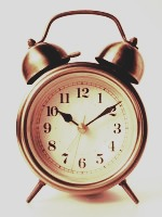(2) A different kind of snooze! Try setting your alarm half an hour before the time you need to wake up and get your day started. When it goes off you can stay in bed for another half an hour and get a little extra time to wake up!
