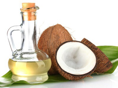Melt 2 Tablespoons of Virgin Unrefined Coconut Oil in a small bowl. Saturate ends of hair and work your way up. Massage on scalp to help hair grow.
