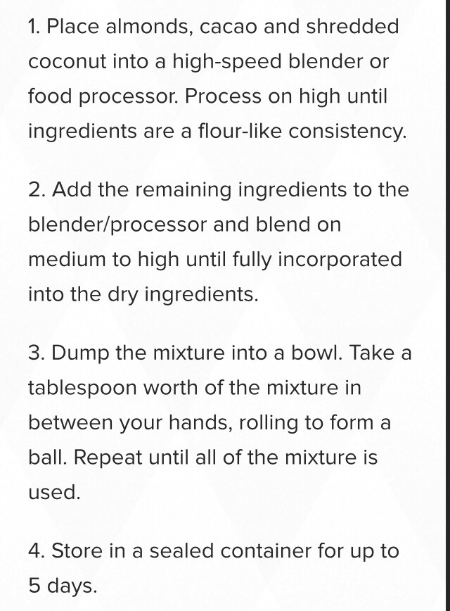The steps/ process