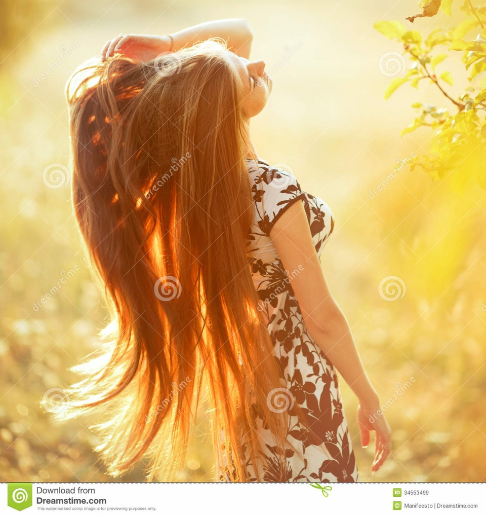 Then, go outside and enjoy the sunshine! But...you can blow dry your hair if you want the results faster.
