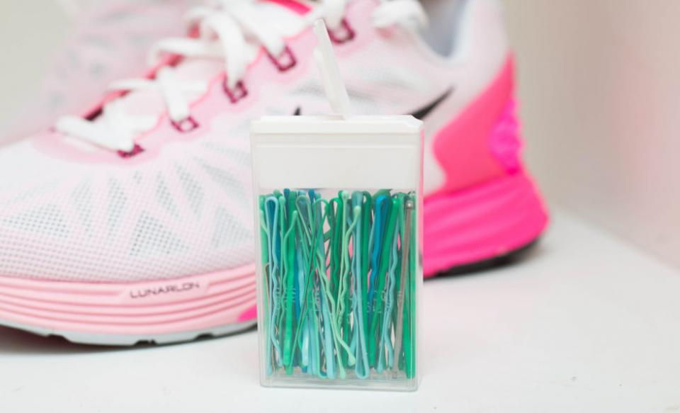 1. Store bobby pins inside an old Tic Tac container so you don't lose them in your bag. It's the perfect size travel container for your hairpins.