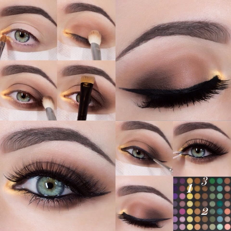 Subtle but brilliant eye makeup look