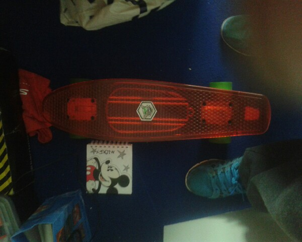 you can use any skateboard or penny board I an using a penny board